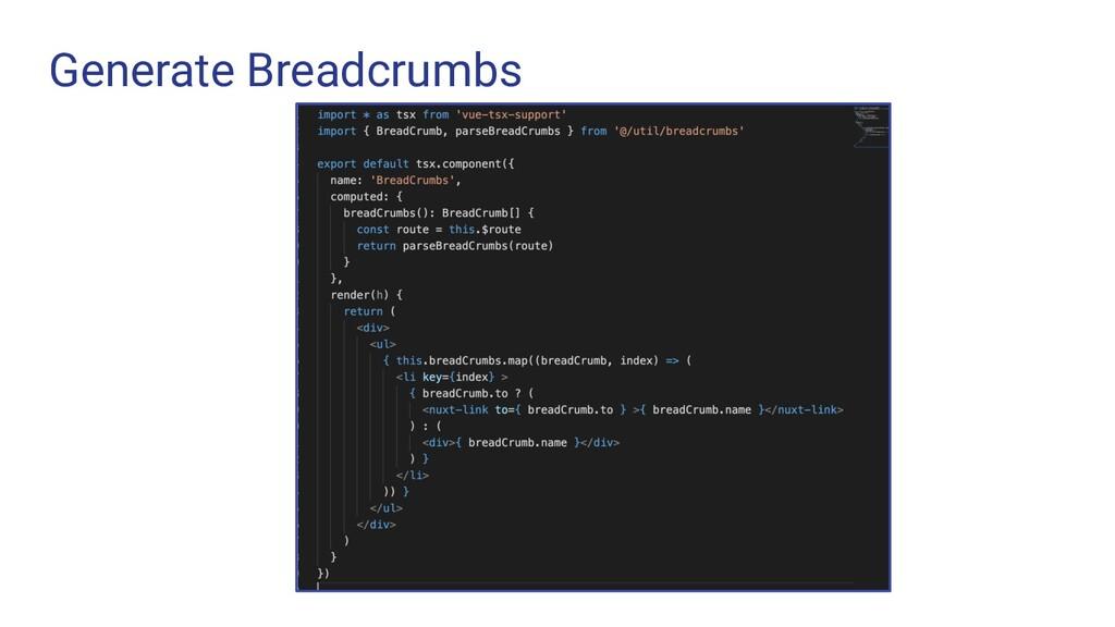 Generate Breadcrumbs