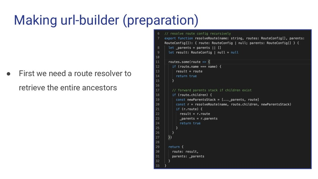 Making url-builder (preparation) ● First we nee...
