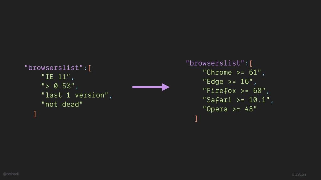 """""""browserslist"""":[ """"IE 11"""", """"> 0.5%"""", """"last 1 ver..."""