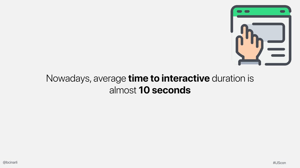 Nowadays, average time to interactive duration ...