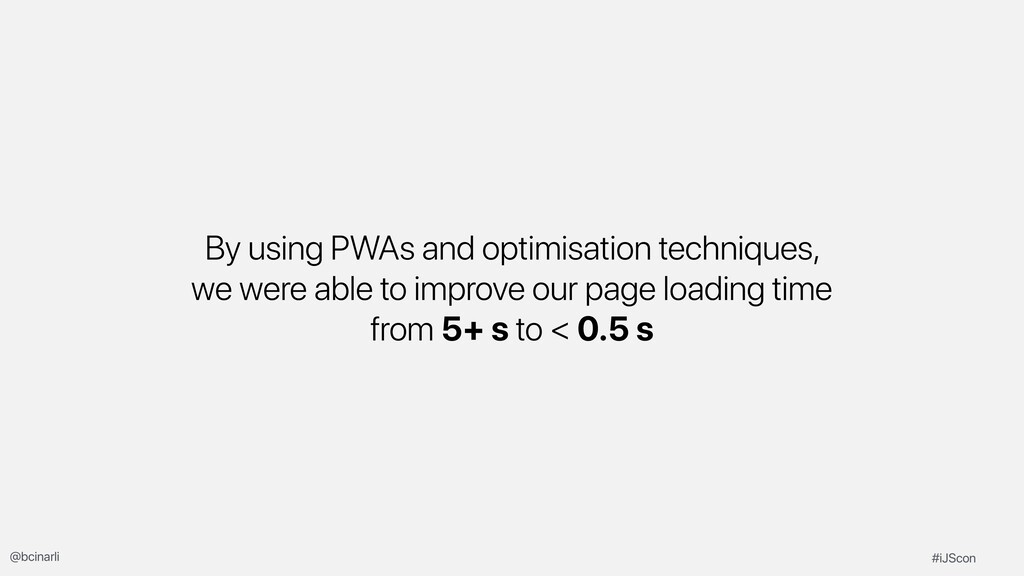 By using PWAs and optimisation techniques, we w...