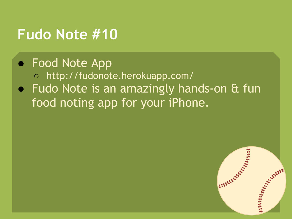 Fudo Note #10 ● Food Note App ○ http://fudonote...