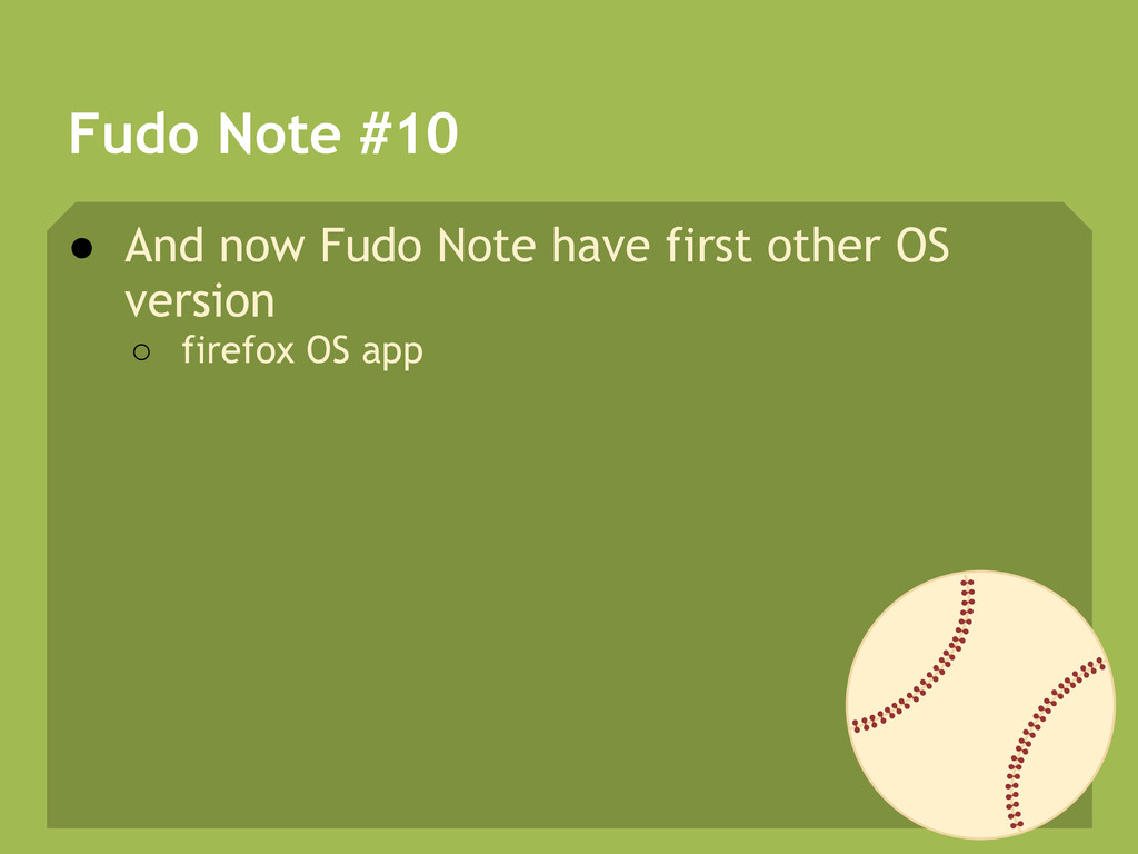 Fudo Note #10 ● And now Fudo Note have first ot...