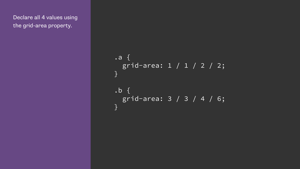 Declare all 4 values using the grid-area proper...