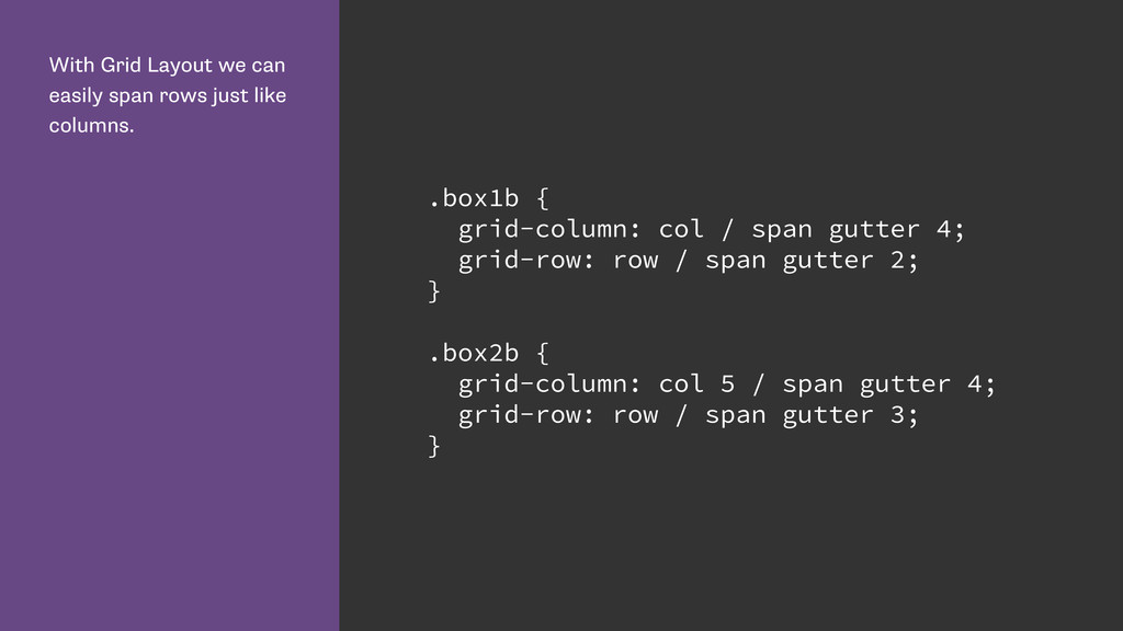 With Grid Layout we can easily span rows just l...