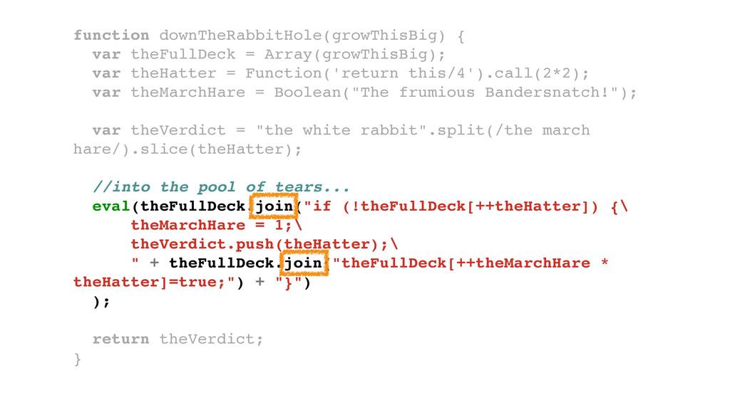 function downTheRabbitHole(growThisBig) {! var ...