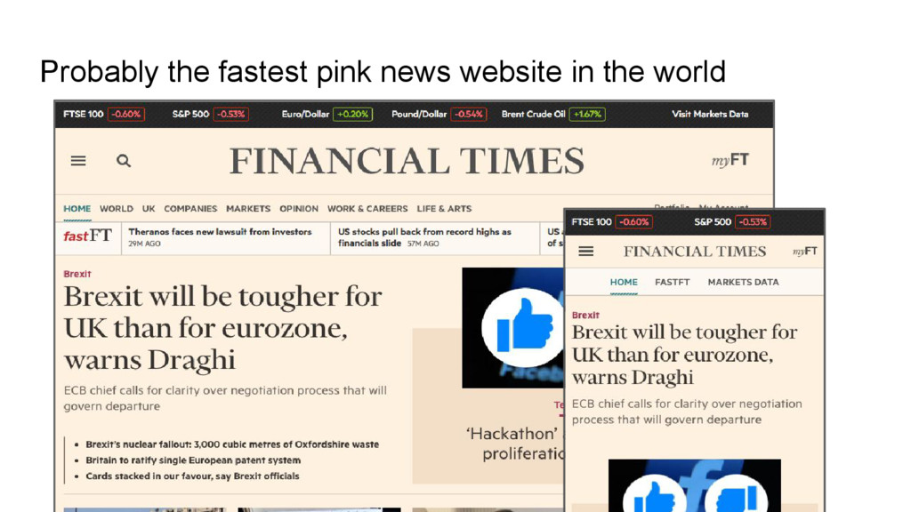 Probably the fastest pink news website in the w...