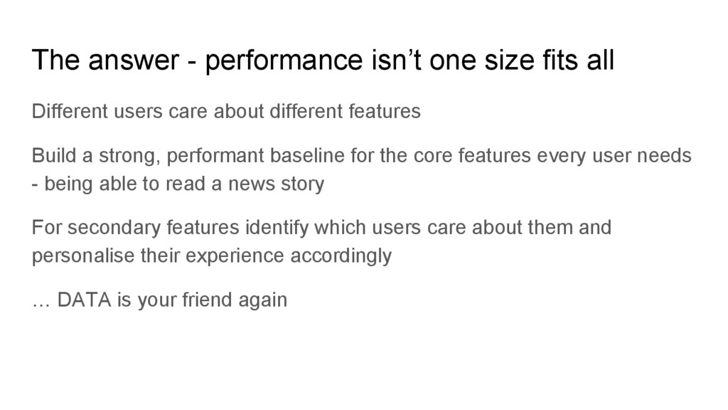 Different users care about different features B...