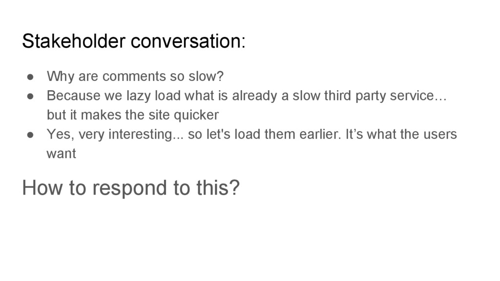 ● Why are comments so slow? ● Because we lazy l...