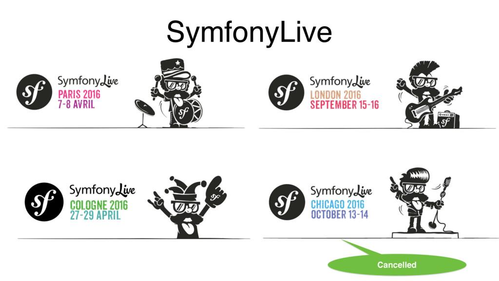 SymfonyLive Cancelled