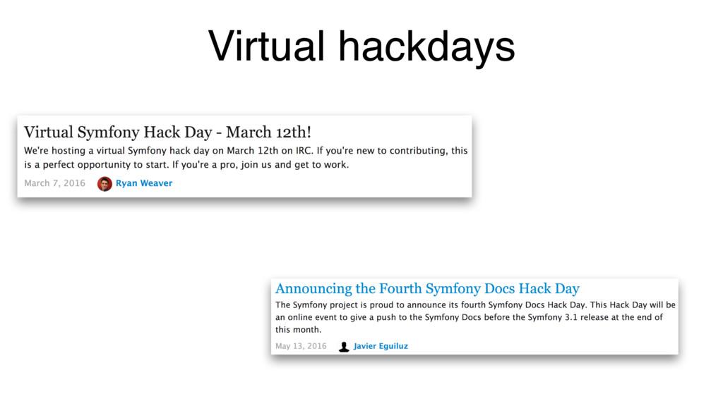 Virtual hackdays