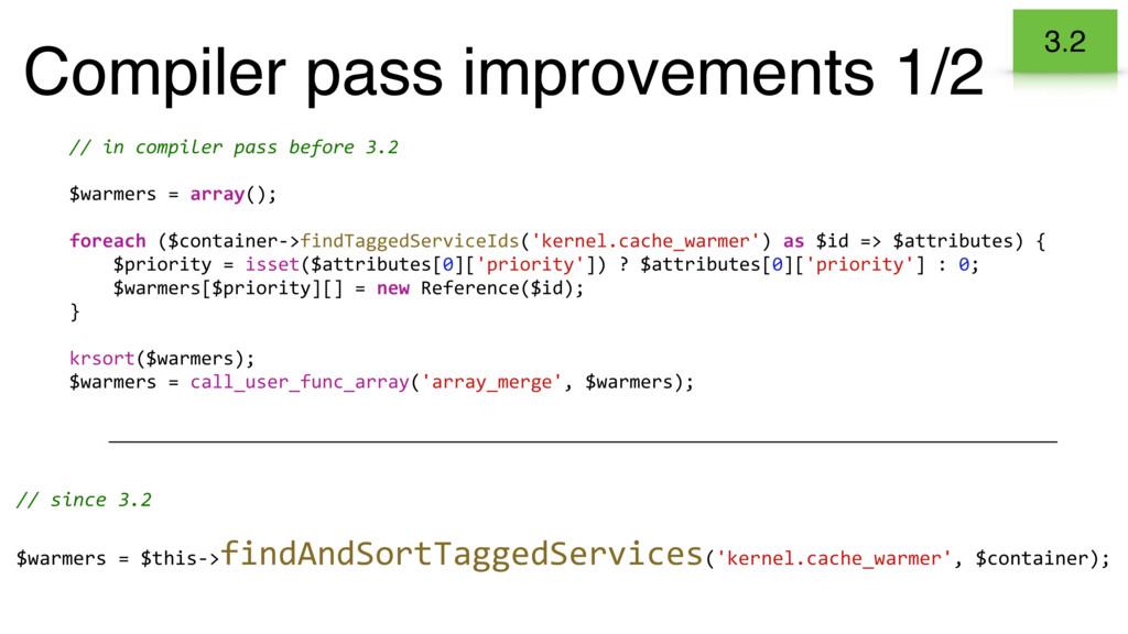 Compiler pass improvements 1/2 // in compiler p...