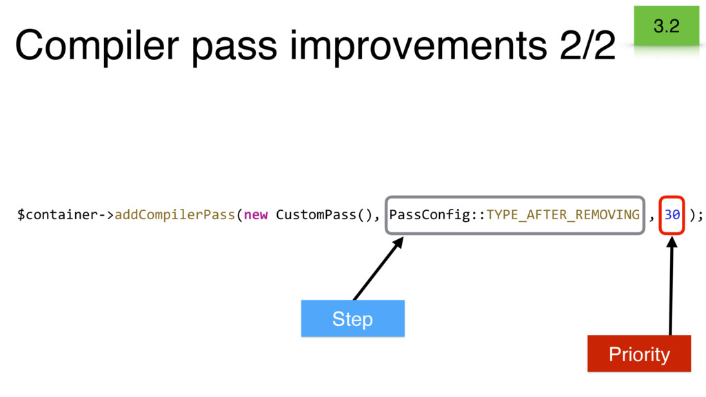 Compiler pass improvements 2/2 3.2 $container->...