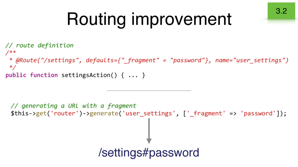 Routing improvement 3.2 // generating a URL wit...