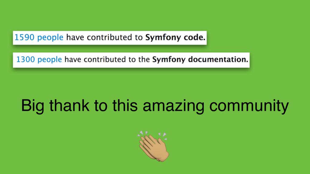 "Big thank to this amazing community """