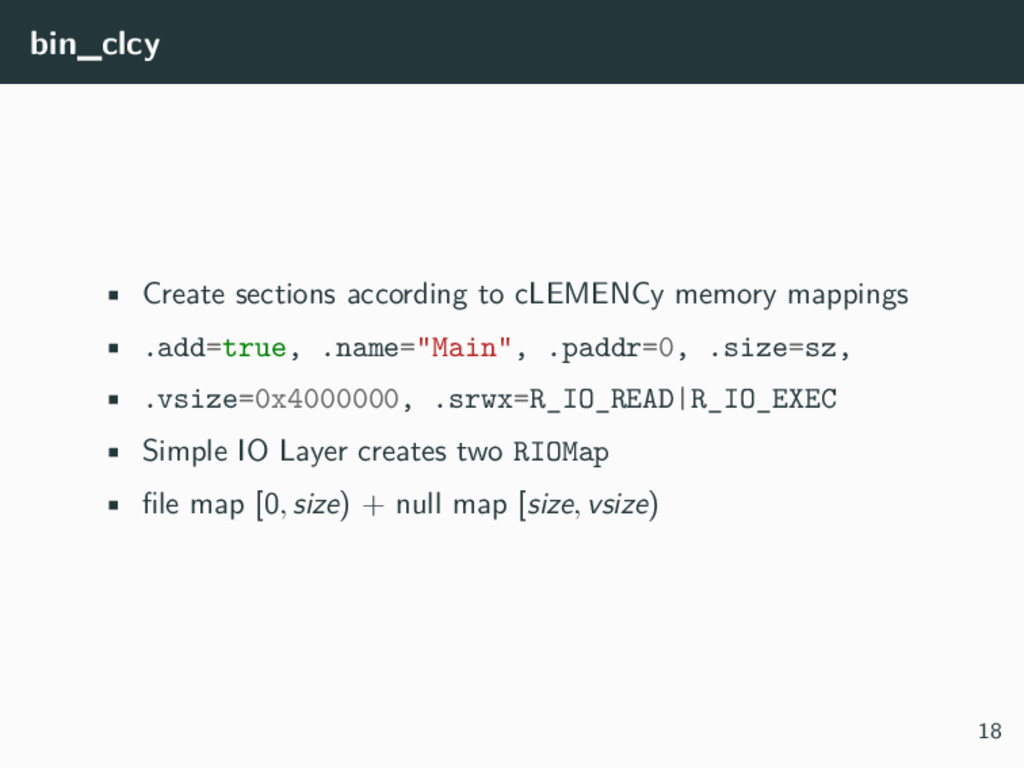 bin_clcy • Create sections according to cLEMENC...