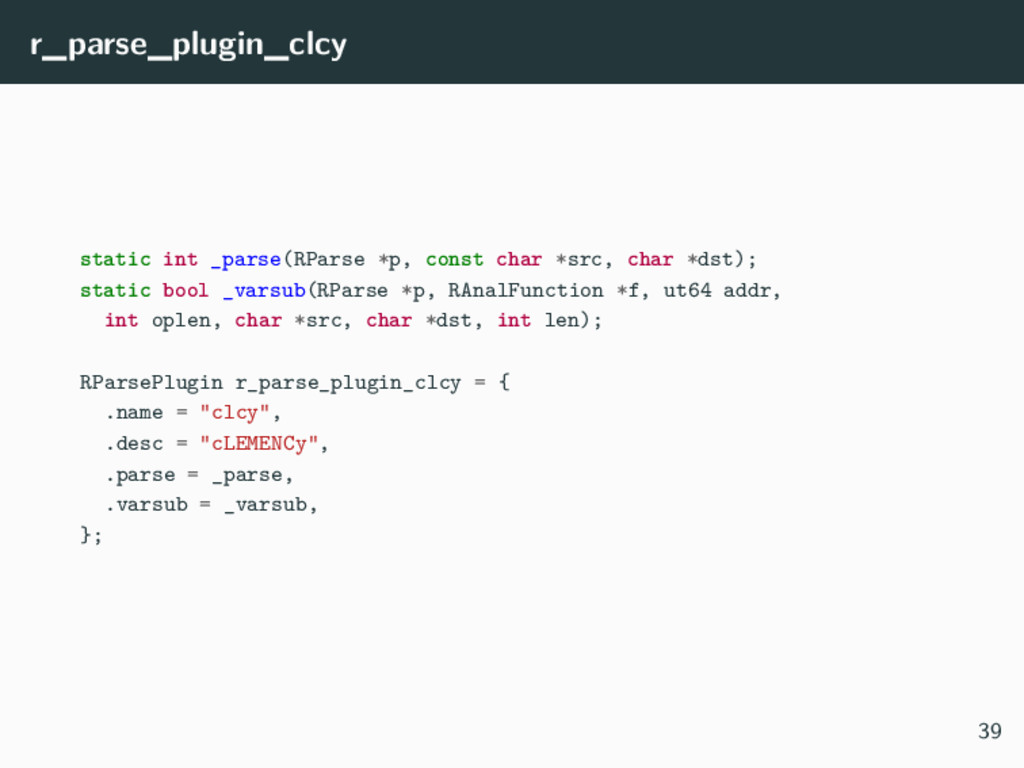 r_parse_plugin_clcy static int _parse(RParse *p...
