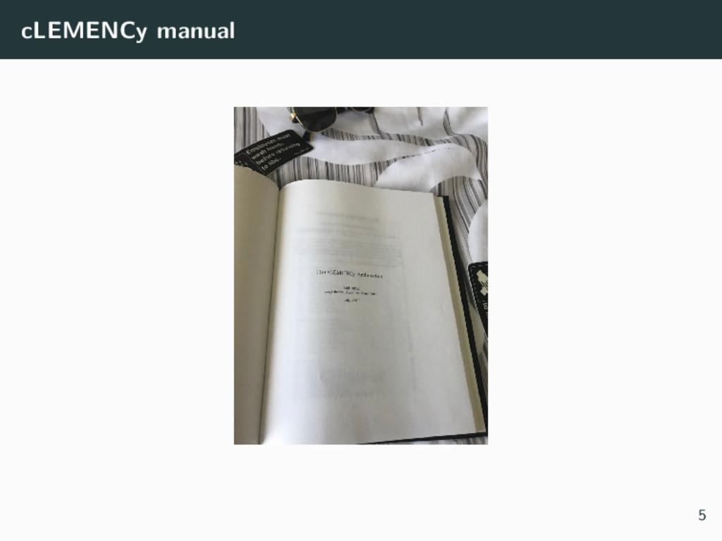cLEMENCy manual 5