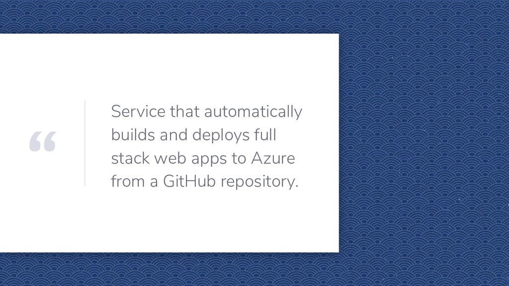 """ Service that automatically builds and deploys..."