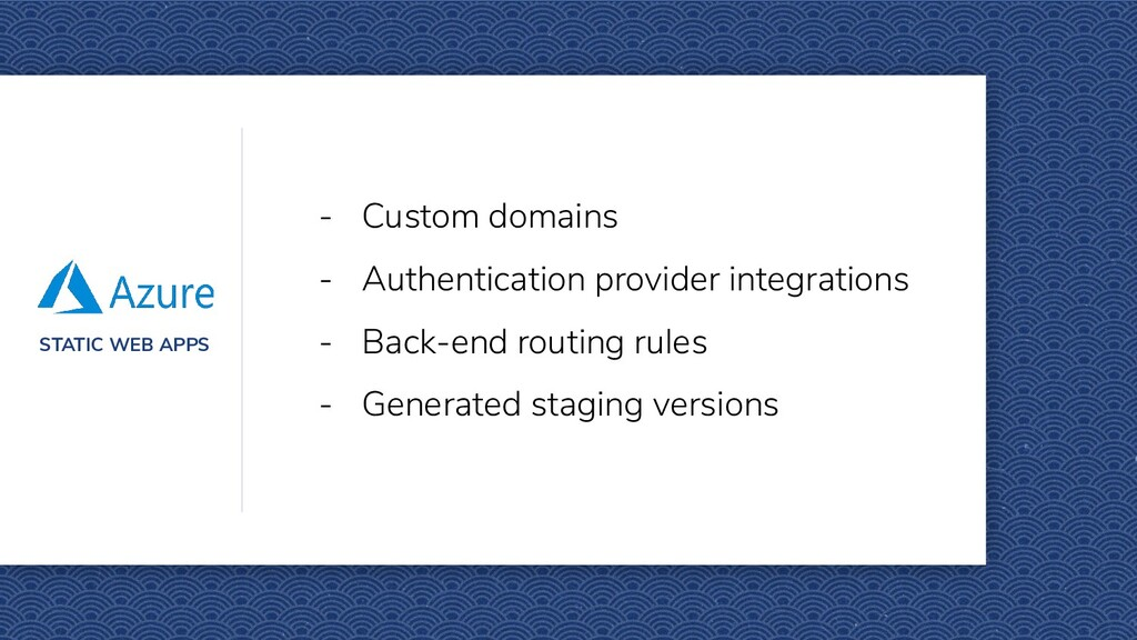 STATIC WEB APPS - Custom domains - Authenticati...
