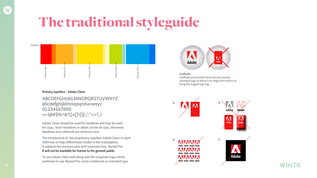 6 The traditional styleguide