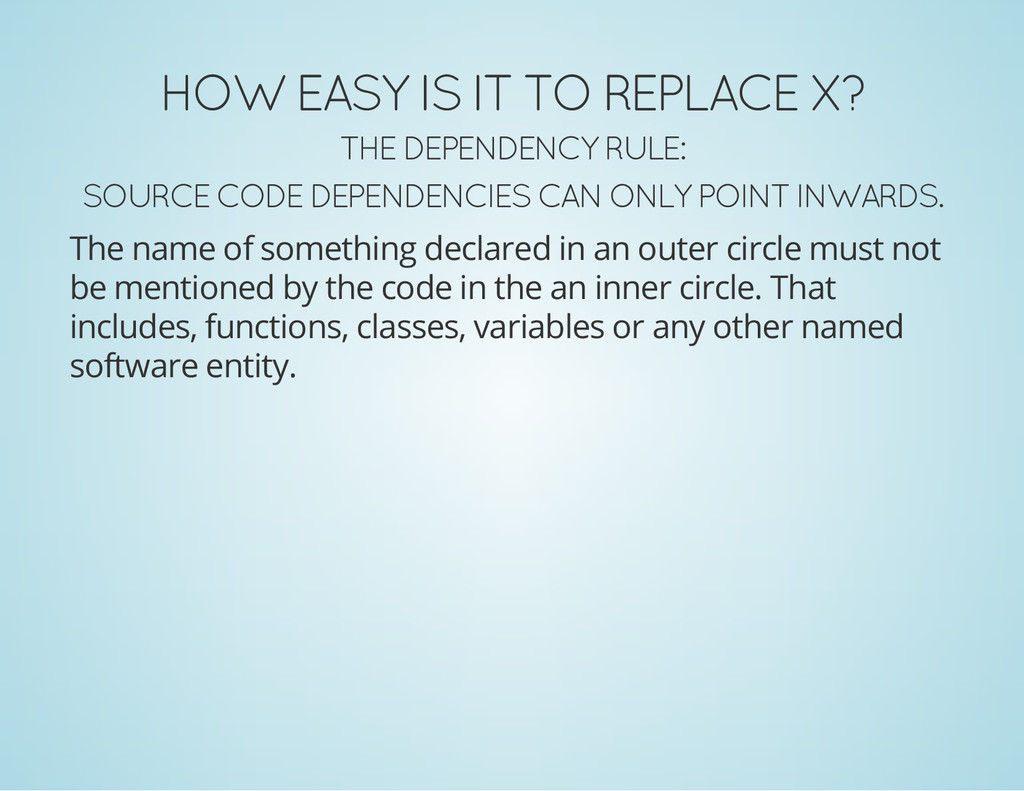 HOW EASY IS IT TO REPLACE X? THE DEPENDENCY RUL...