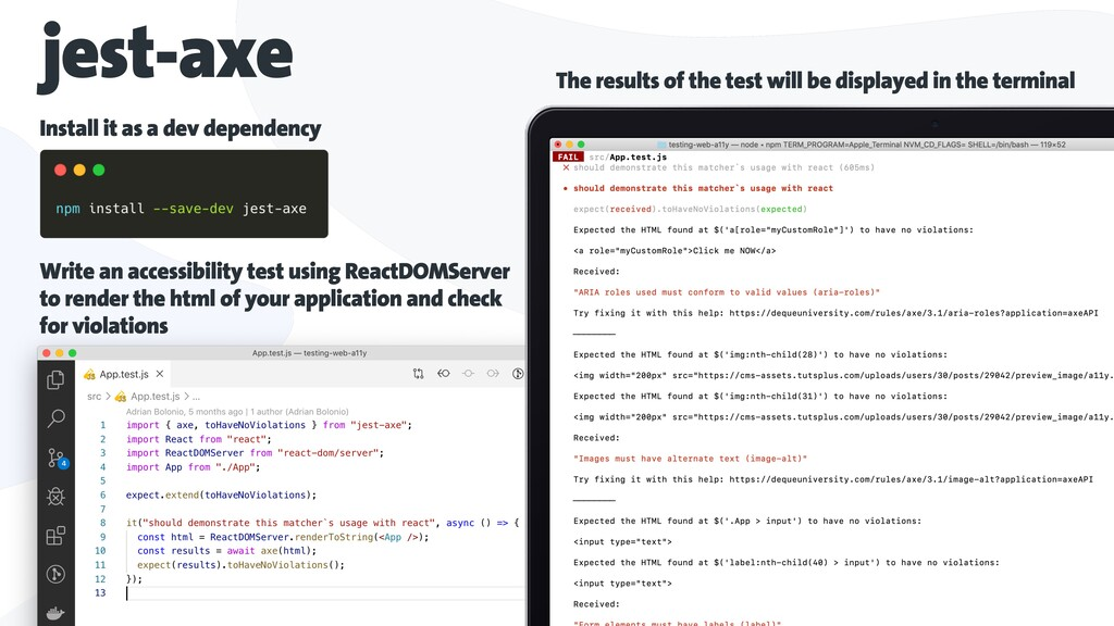 jest-axe Install it as a dev dependency The res...