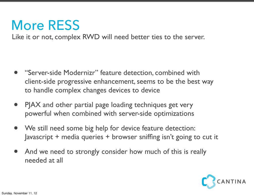 "• ""Server-side Modernizr"" feature detection, co..."