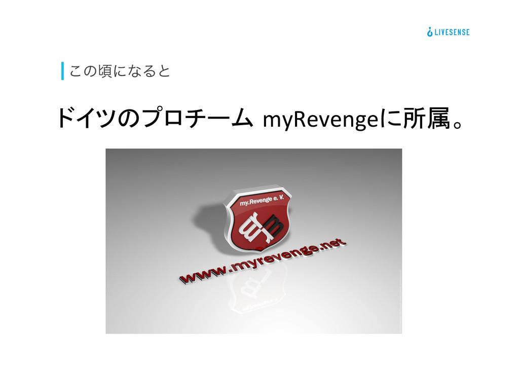 ͜ͷࠒʹͳΔͱ ドイツのプロチーム myRevengeに所属。