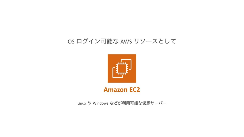 OS ϩάΠϯՄೳͳ AWS Ϧιʔεͱͯ͠ Amazon EC2 Linux ΍ Windo...
