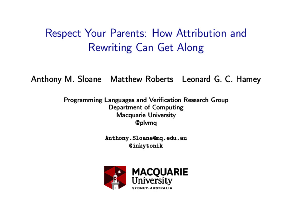 Respect Your Parents: How Attribution and Rewri...
