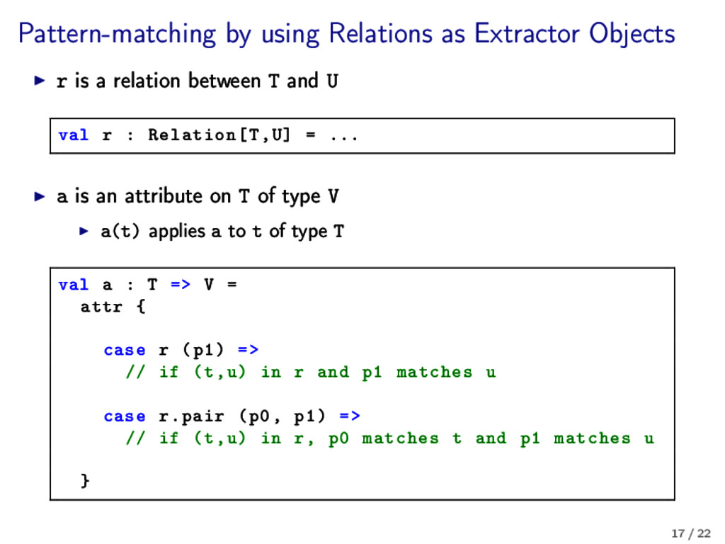 Pattern-matching by using Relations as Extracto...