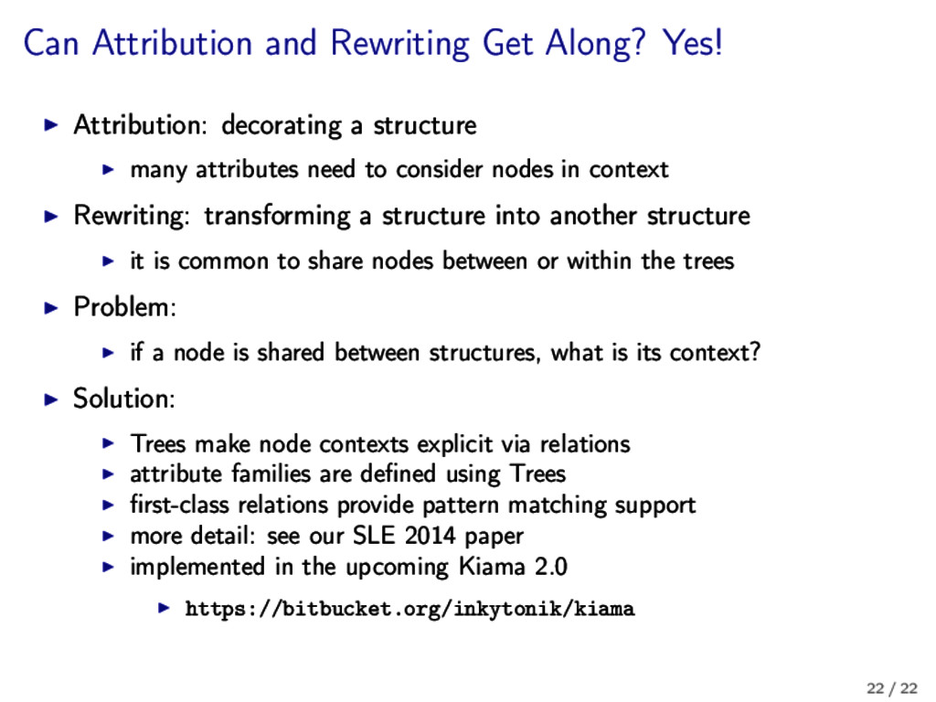 Can Attribution and Rewriting Get Along? Yes! A...