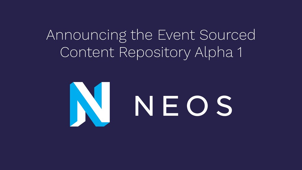 Announcing the Event Sourced Content Repository...
