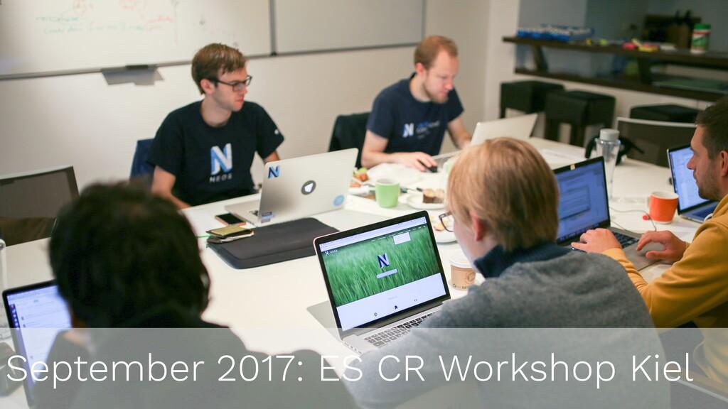 September 2017: ES CR Workshop Kiel
