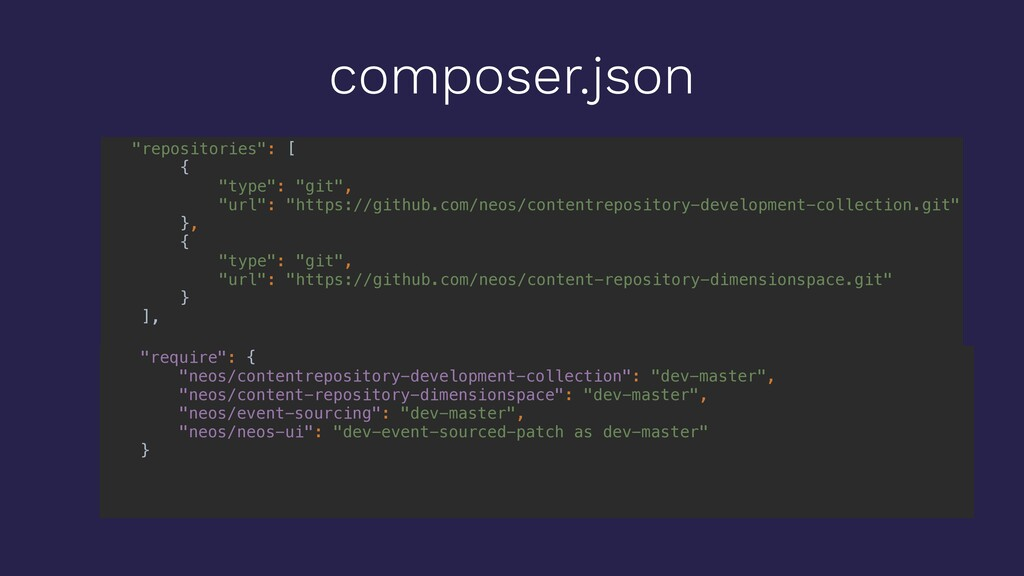 """composer.json """"repositories"""": [ { """"type"""": """"git""""..."""