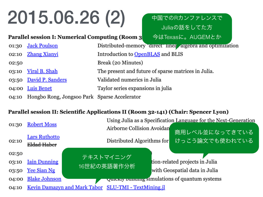 2015.06.26 (2) தࠃͰͷRΧϯϑΝϨϯεͰ JuliaͷΛͯͨ͠ํ ࠓTex...