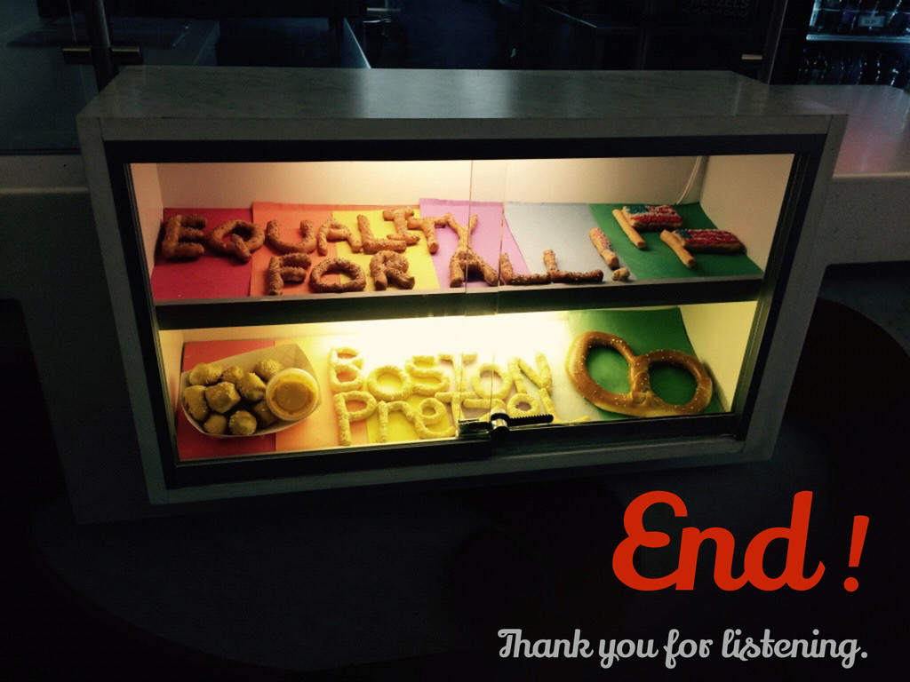 End ! Thank you for listening.