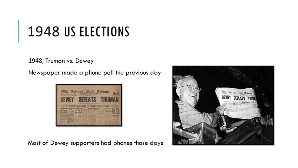 1948 US ELECTIONS 1948, Truman vs. Dewey Newspa...