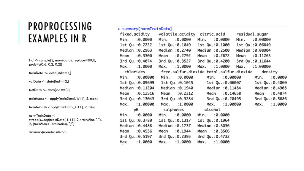 PROPROCESSING EXAMPLES IN R ind <- sample(3, nr...