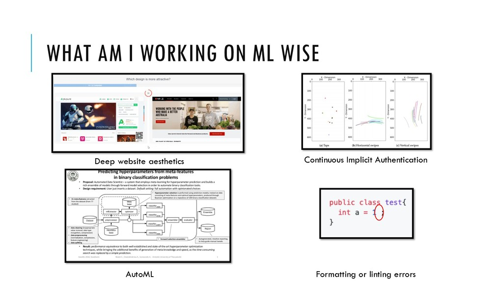 WHAT AM I WORKING ON ML WISE Deep website aesth...