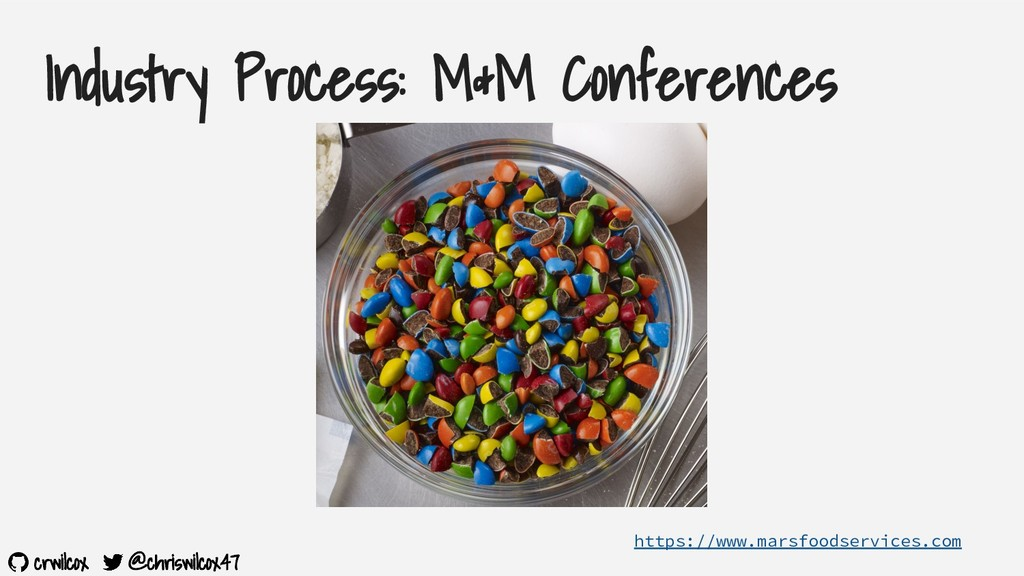 crwilcox @chriswilcox47 Industry Process: M&M C...