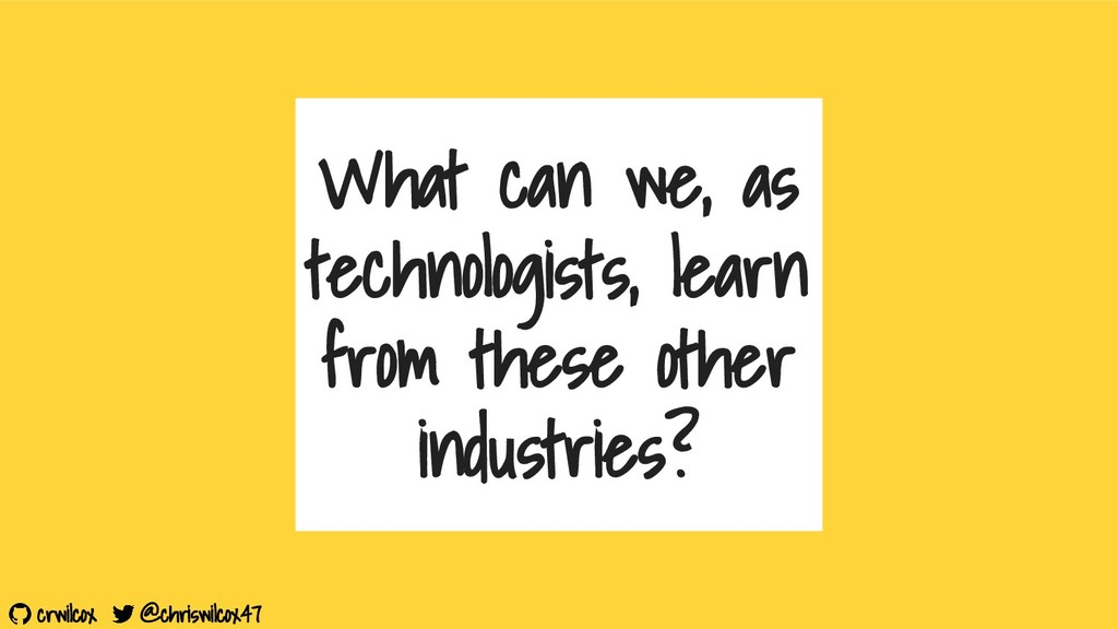 crwilcox @chriswilcox47 What can we, as technol...