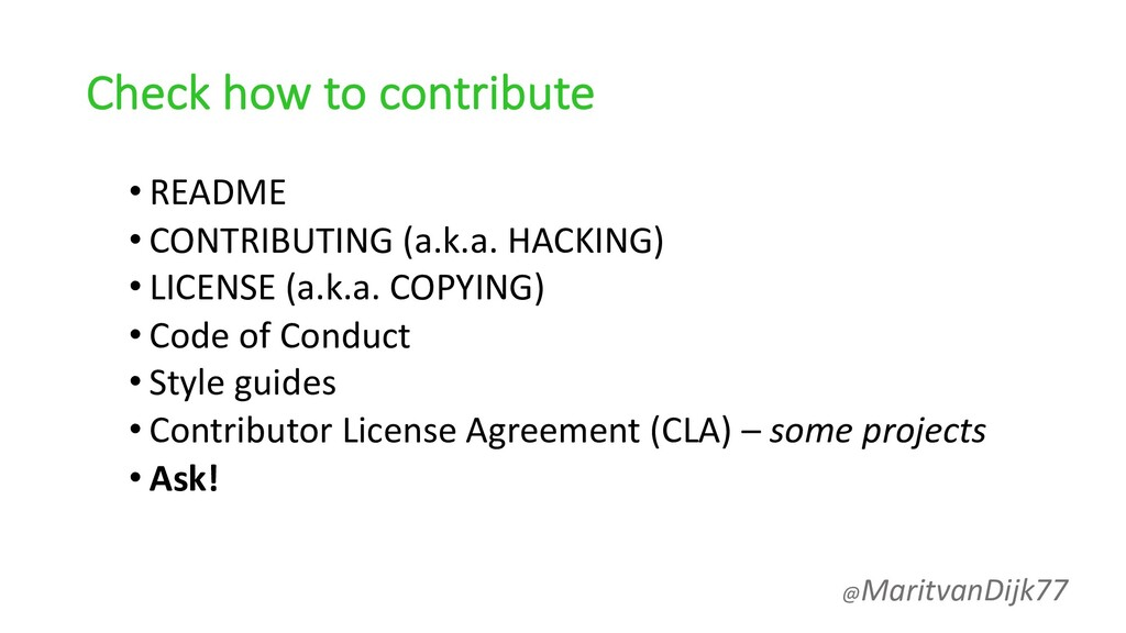 Check how to contribute • README • CONTRIBUTING...