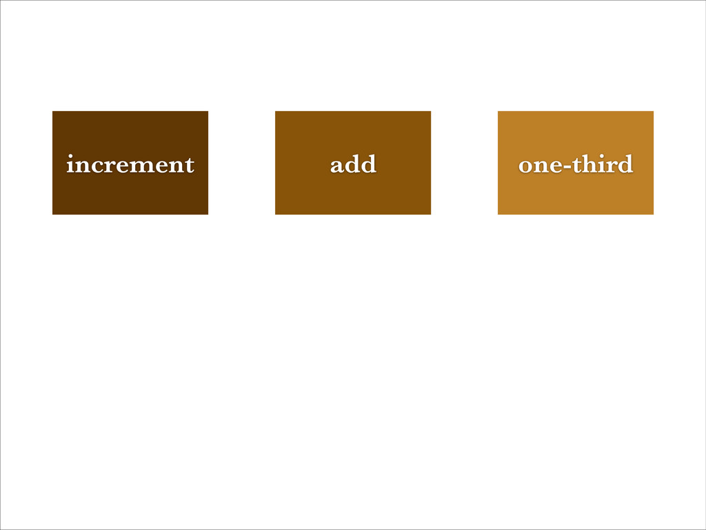 add increment one-third