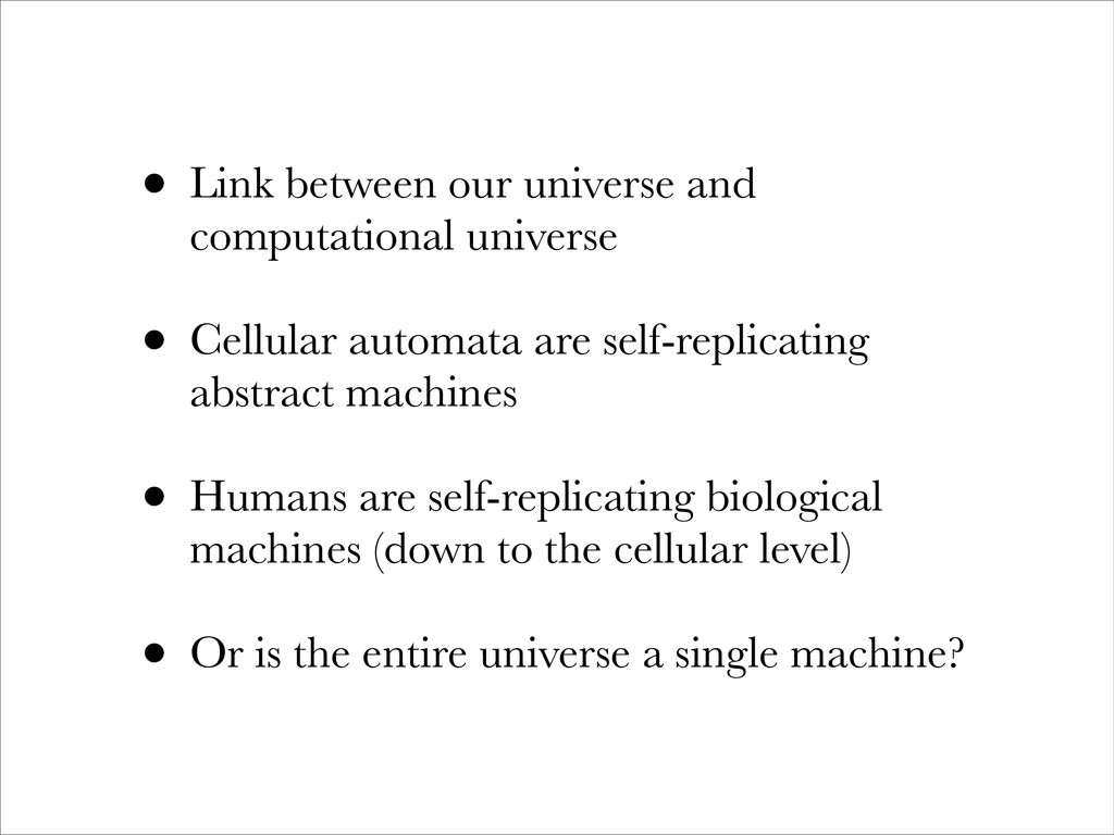 • Link between our universe and computational u...