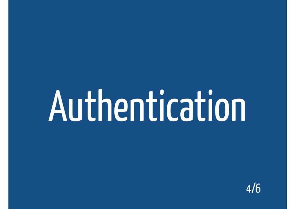 Authentication 4/6