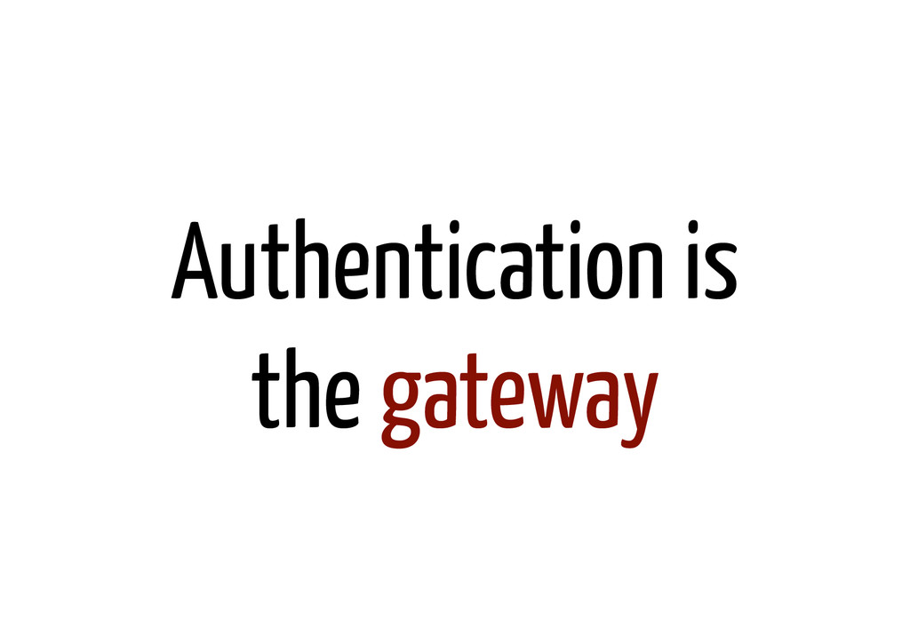 Authentication is the gateway