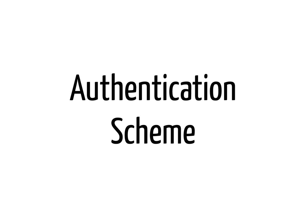 Authentication Scheme