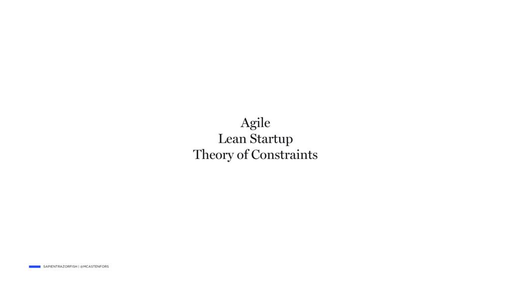 SAPIENTRAZORFISH   @MCASTENFORS Agile Lean Star...